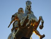 The Golden Horseman - the founder of the Baroque District