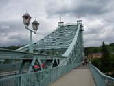 The blue wonder - Loschwitzer Bruecke bridge
