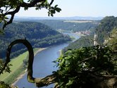 Saxon Switzerland, a look from the Bastei