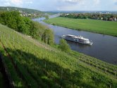 View from the three castles on the Elbe river