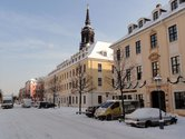 The Koenigstrasse street in winter times